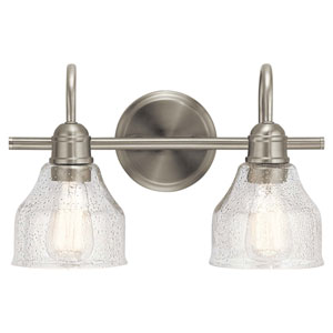 Avery 2-Light Bath Light in Brushed Nickel