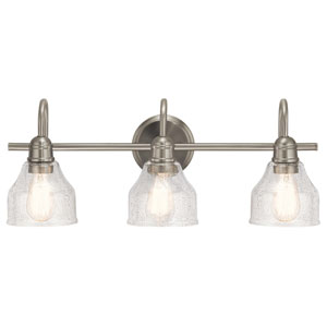 Avery 3-Light Bath Light in Brushed Nickel