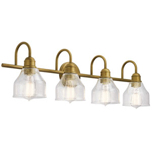 Avery Natural Brass Four-Light Bath Vanity