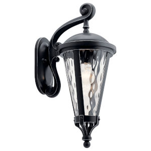 Cresleigh Black with Silver Nine-Inch One-Light Outdoor Wall Sconce