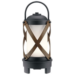 Berryhill Portable Bluetooth LED Lantern in Textured Black
