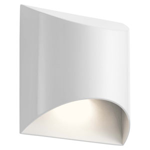 Wesley White LED Outdoor Wall Sconce