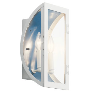 Narelle White Seven-Inch Two-Light Outdoor Wall Sconce