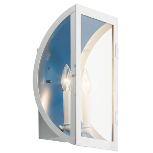 Narelle White Nine-Inch Two-Light Outdoor Wall Sconce