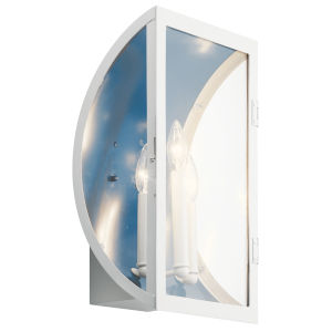 Narelle White 11-Inch Three-Light Outdoor Wall Sconce