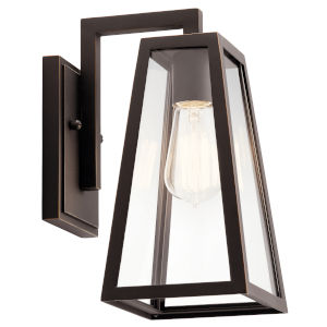 Delison Rubbed Bronze Seven-Inch One-Light Outdoor Wall Sconce