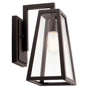 Delison Rubbed Bronze Eight-Inch One-Light Outdoor Wall Sconce