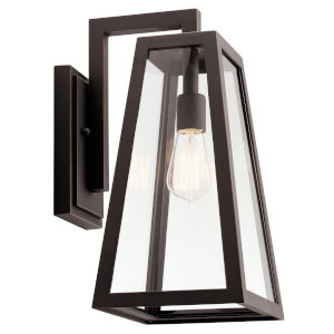 Delison Rubbed Bronze 10-Inch One-Light Outdoor Wall Sconce