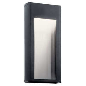 Ryo Textured Black Eight-Inch LED Outdoor Wall Sconce