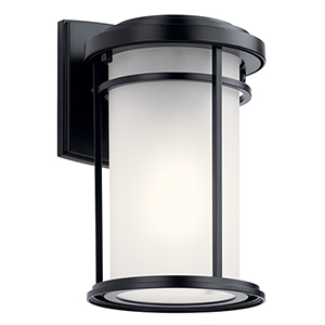 Toman Black One-Light Six-Inch Outdoor Wall Sconce