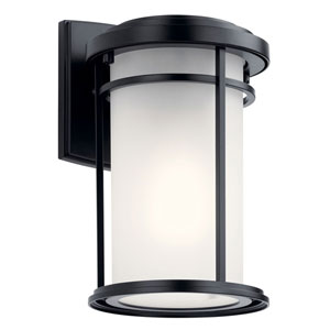 Toman Black Outdoor LED Wall Sconce
