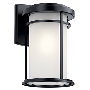 Toman Black One-Light Eight-Inch Outdoor Wall Sconce