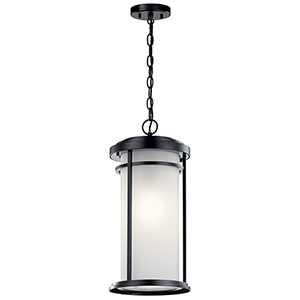 Toman Black One-Light Outdoor Hanging Pendant