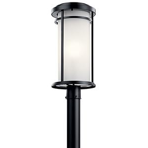 Toman Black One-Light Outdoor Post Lantern