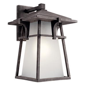 Beckett Weathered Zinc 12-Inch One-Light Energy Star LED Outdoor Wall Mount