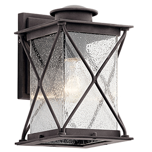 Argyle Weathered Zinc Six-Inch One-Light Energy Star LED Outdoor Wall Mount