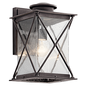 Argyle Weathered Zinc Nine-Inch One-Light Energy Star LED Outdoor Wall Mount