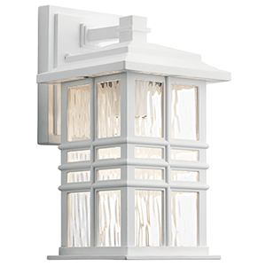 Beacon Square White One-Light Six-Inch Outdoor Wall Sconce