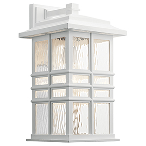 Beacon Square White One-Light Outdoor Wall Sconce