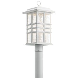 Beacon Square White One-Light Outdoor Post Lantern