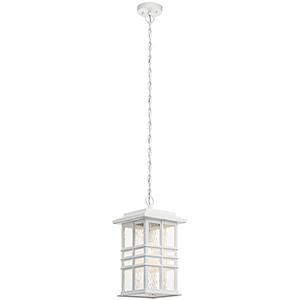 Beacon Square White One-Light Outdoor Hanging Pendant