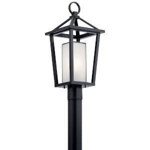 Pai Black 10-Inch One-Light Outdoor Post Light