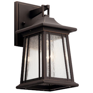 Taden Rubbed Bronze Six-Inch One-Light Outdoor Wall Sconce