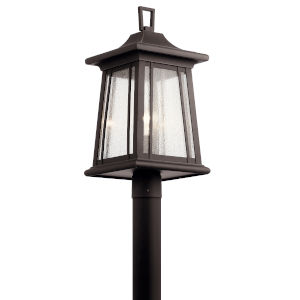 Taden Rubbed Bronze 10-Inch One-Light Outdoor Post Light