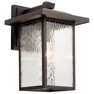 Capanna Olde Bronze 11-Inch One-Light Outdoor Wall Sconce