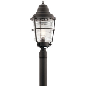 Chance Harbor 1-Light Outdoor Post in Weathered Zinc