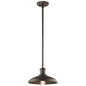 Allenbury Olde Bronze One-Light Convertible Pendant