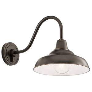 Pier Olde Bronze 13-Inch One-Light Outdoor Wall Sconce