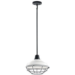 Pier White One-Light 12-Inch Outdoor Pendant