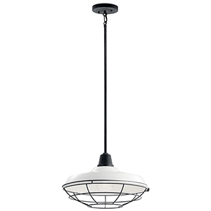 Pier White One-Light 16-Inch Outdoor Pendant