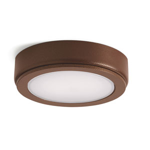 4D Textured Bronze 2700K LED Undercabinet Disc