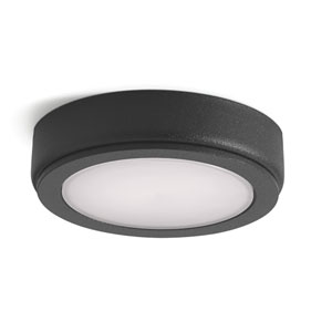 4D Textured Black 3000K LED Undercabinet Disc