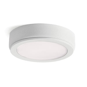 4D Textured White 3000K LED Undercabinet Disc