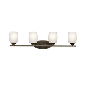 Eileen Olde Bronze Four-Light Energy Star LED Bath Vanity