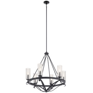 Krysia Black 29-Inch Six-Light Chandelier
