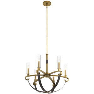 Artem Natural Brass Six-Light Chandelier