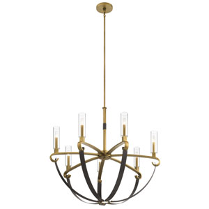 Artem Natural Brass Seven-Light Chandelier