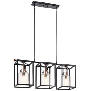 Kitner Black Three-Light Chandelier