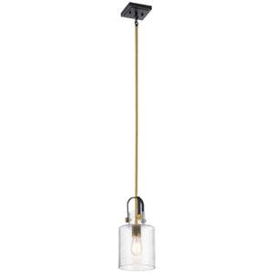 Kitner Natural Brass One-Light Mini Pendant