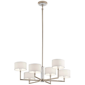 Laurent Polished Nickel Six-Light Chandelier