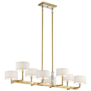 Laurent Champagne Gold Eight-Light Chandelier