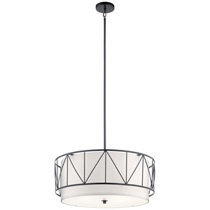 Birkleigh Black Four-Light Pendant