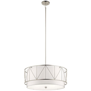 Birkleigh Satin Nickel Four-Light Pendant