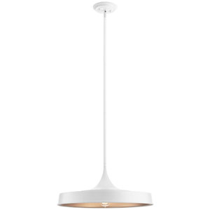 Elias White 10-Inch One-Light Convertible Pendant