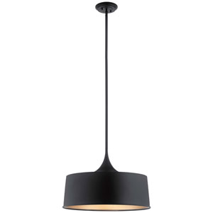 Elias Black 15-Inch One-Light Convertible Pendant