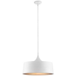 Elias White 15-Inch One-Light Convertible Pendant
